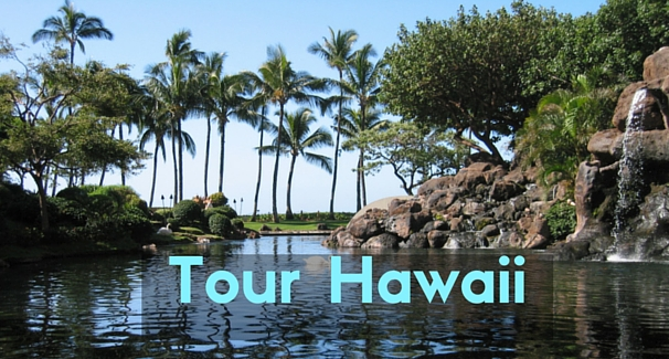Image of Lagoon with the text 'Tour Hawaii'
