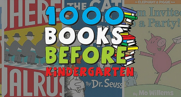 Text saying 1000 Books Before Kindergarten
