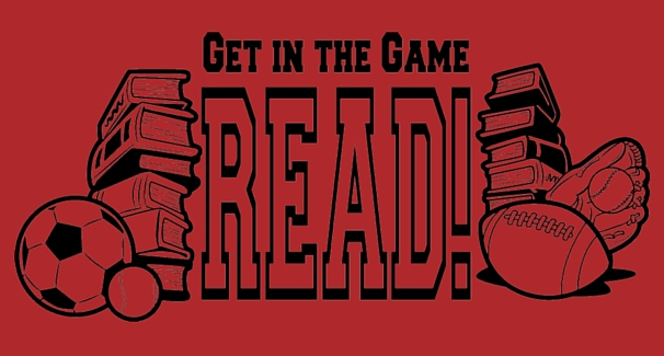 Red Banner with text 'Get in the Game READ'