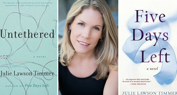 Image of Julie Lawson TImmer & the covers of her two books