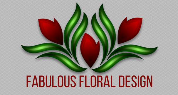 Image of red flowers with text 'Fabulous Floral Design'