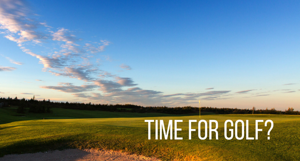 Time for golf- banner