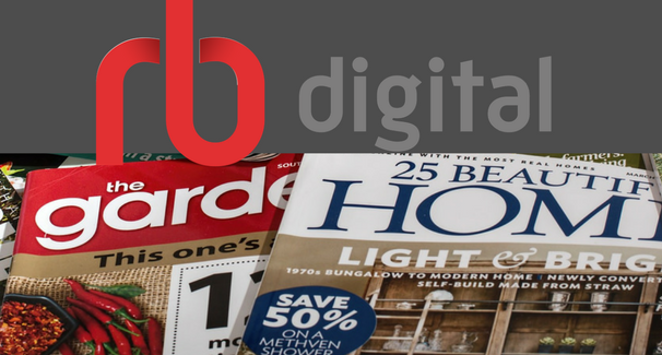 Image of magazine covers with RB Digital Logo