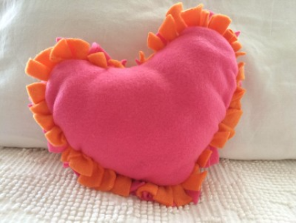 Make a No-Sew Heart Pillow