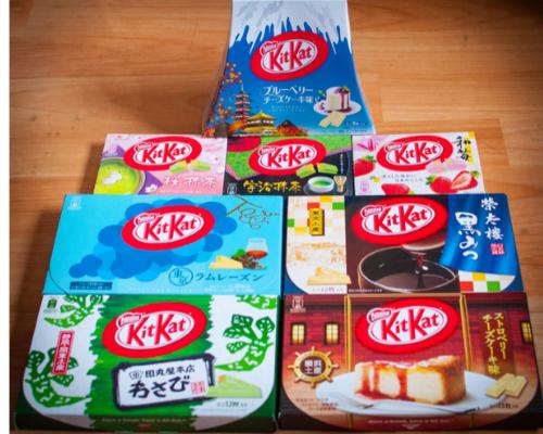 Japanese Kit Kat Tasting